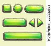 set of cartoon green buttons... | Shutterstock .eps vector #222232915