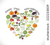 isolated heart of vegetables.... | Shutterstock .eps vector #222233839