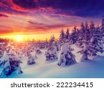 fantastic evening landscape... | Shutterstock . vector #222234415