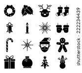 new year symbols christmas... | Shutterstock .eps vector #222234439