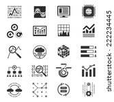 data analytic silhouette icons | Shutterstock .eps vector #222234445