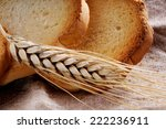 ear of wheat  in the background ... | Shutterstock . vector #222236911