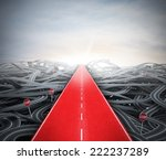 red easy way to success over... | Shutterstock . vector #222237289