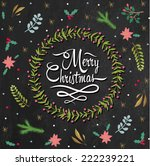 merry christmas holiday... | Shutterstock .eps vector #222239221
