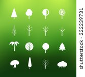 white tree icons clip art on... | Shutterstock .eps vector #222239731