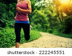 Young Fitness Woman Running At...