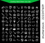 cooking hand drawn icon set  | Shutterstock .eps vector #222247609