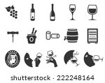 wine vector illustration icon... | Shutterstock .eps vector #222248164