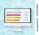 freelance infographic elements  ... | Shutterstock .eps vector #222252847
