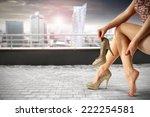 gray terrace of city landscape... | Shutterstock . vector #222254581