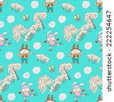 seamless pattern    christmas...   Shutterstock .eps vector #222254647