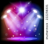 stage light. mesh.  this file... | Shutterstock .eps vector #222258331