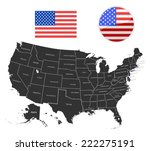map of usa in black color.... | Shutterstock .eps vector #222275191