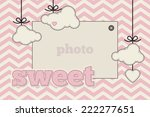 template. pink  black and cream ... | Shutterstock .eps vector #222277651