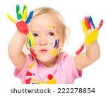 portrait of a cute little girl... | Shutterstock . vector #222278854