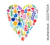 Vector Heart Made Of Watercolor ...