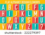 flat colorful letter of the... | Shutterstock .eps vector #222279397