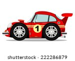 funny old sports car. vector...