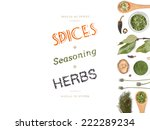 different spices and herbs  on... | Shutterstock . vector #222289234