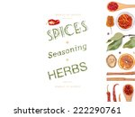 different spices and herbs  on... | Shutterstock . vector #222290761