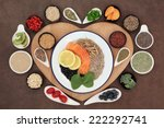 large health food selection in... | Shutterstock . vector #222292741