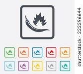 hot chili pepper sign icon.... | Shutterstock . vector #222296644