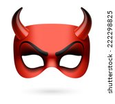 Devil Mask. Vector Illustration.