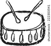 doodle drum vector | Shutterstock .eps vector #222303541