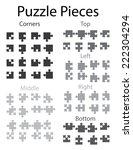 an illustration of jigsaw... | Shutterstock .eps vector #222304294