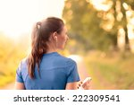 attractive happy woman standing ... | Shutterstock . vector #222309541