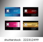concept business cards set  | Shutterstock .eps vector #222312499