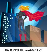 superwoman standing over the...