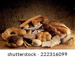 freshly baked crusty bread ... | Shutterstock . vector #222316099