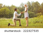 man giving a ring woman  love ... | Shutterstock . vector #222327535