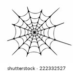 vector illustration of cobweb | Shutterstock .eps vector #222332527