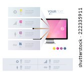 infographic design with... | Shutterstock .eps vector #222335911