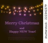 bright garlands. vector eps 10... | Shutterstock .eps vector #222342379