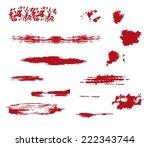 brush strokes. set of color... | Shutterstock .eps vector #222343744