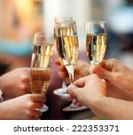 celebration. people holding... | Shutterstock . vector #222353371