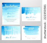 set of wedding invitation with... | Shutterstock .eps vector #222353581
