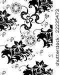 abstract floral background ... | Shutterstock . vector #22235473