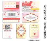 set of loyalty cards. tulip... | Shutterstock .eps vector #222356221