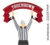 a referee with both hands up as ... | Shutterstock .eps vector #222357949