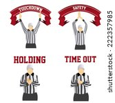 a set of different referee... | Shutterstock .eps vector #222357985
