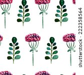 floral watercolor seamless... | Shutterstock .eps vector #222358564