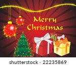 christmas card with gifts and... | Shutterstock .eps vector #22235869