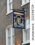 Small photo of WAPPING LONDON UK 16 September 2014: Captain Kidd pub sign