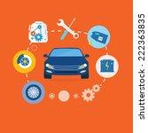 auto mechanic service flat...   Shutterstock . vector #222363835