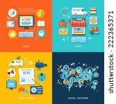 social media and network... | Shutterstock . vector #222365371