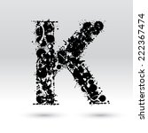 letter k formed by black and...   Shutterstock .eps vector #222367474